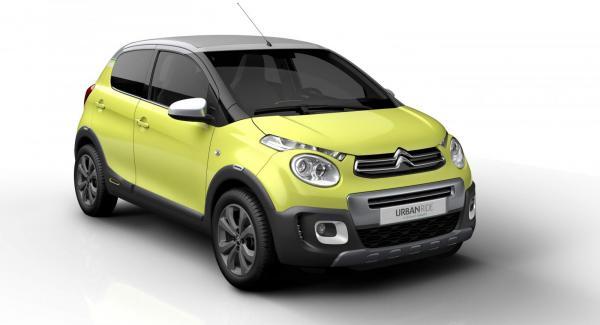 Citroën visar konceptbilen C1 Urban Ride på bilsalongen i Paris.