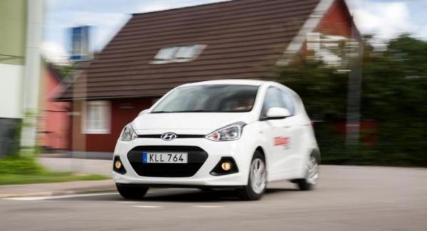 Hyundai i10 passerar rostskyddsgranskningen med klart godkänt betyg.