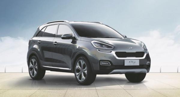 Konceptet Kia KX3 visade upp på bilsalongen i kinesiska Guangzhou.