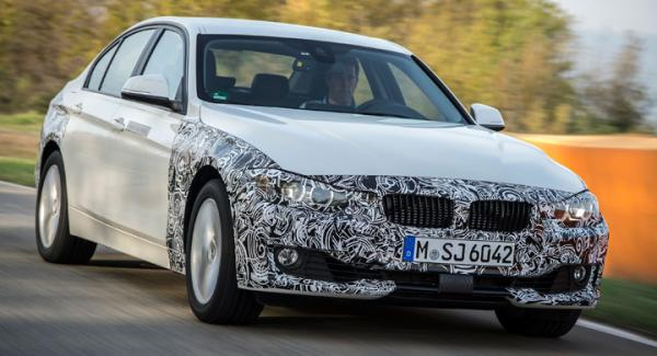 Prototypen BMW 3-serie laddhybrid.