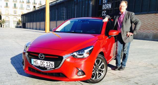 Erik Rönnblom rapporterar direkt från Barcelona och provkörning av Mazda 2.