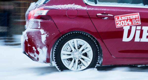 Peugeot 308 ingick i förra årets långtest, bilen fick problem med fastfrusna bakbromsar under vintertestet.