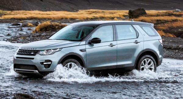 Discovery Sport kan vada genom upp till 60 cm djupt vatten. Vattendjupmätare är tillval!