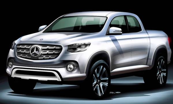 Här är första skissen på Mercedes nya pickis.