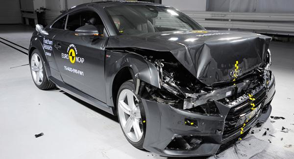 Audi TT i Euro NCAPs krocktest.