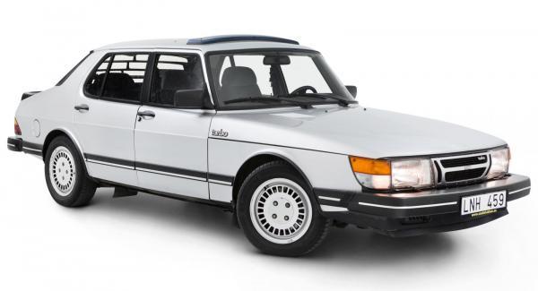 Turbo-Saab med smilet i behåll.