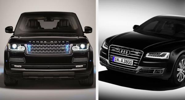 Två är en trend: Range Rover Sentinel och A8 Security L är båda skottsäkra.