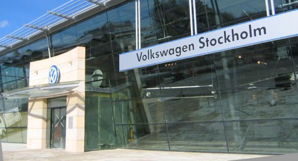 Volkswagens bilhall i Akalla, norra Stockholm.