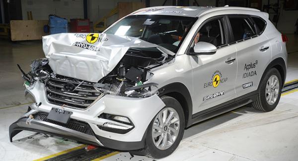 Hyundai Tucson fixade fem stjärnor av fem möjliga i Euro NCAP.