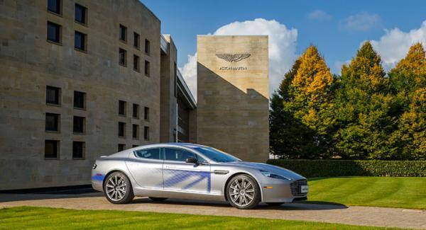 Eldrivna konceptet RapidE från Aston Martin.