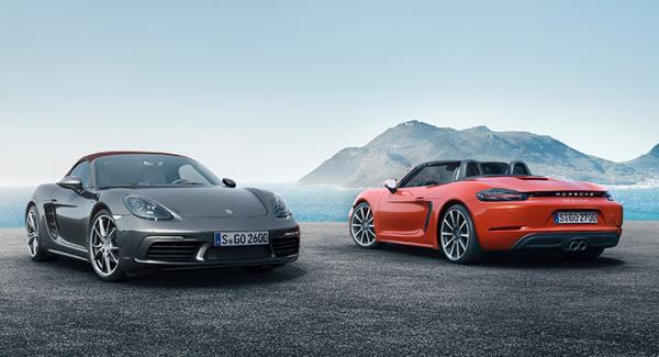 Porsche 718 Boxster och 718 Boxster S.
