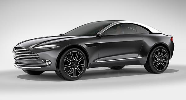 Aston Martin DBX Concept visades upp på bilsalongen i Genève 2015.