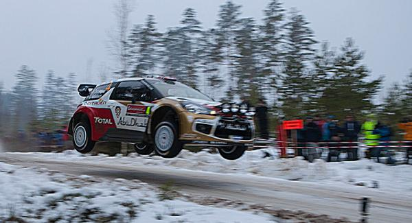 Snö och is, en förutsättning för Svenska Rallyts fortlevnad. Foto: Tobias Petersson