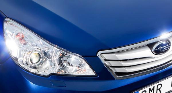 UV-strålning skadar lamporna och ger dåligt ljus på många av Subarus bilar.