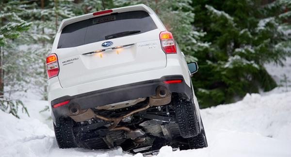 Frågeställarens Subaru Forester driver bara på ett hjul när det är dags att dra upp båten.