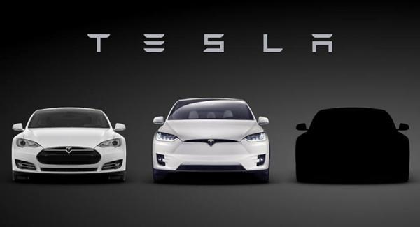Model S, Model X och Model 3, än så länge höljd i dunkel.