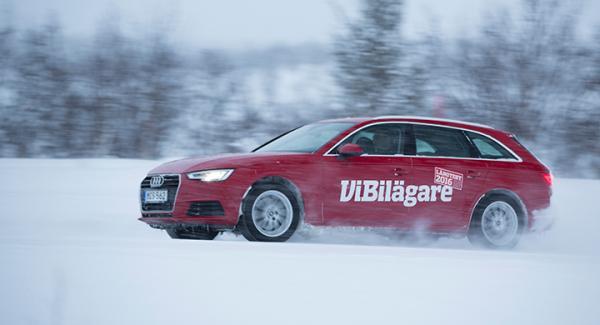 Audi A4 hamnade på tredje plats i 2016 års vinterbilstest av långteststallet.