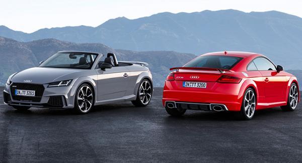 Audi TT RS roadster och coupé får ny belysningsteknik.