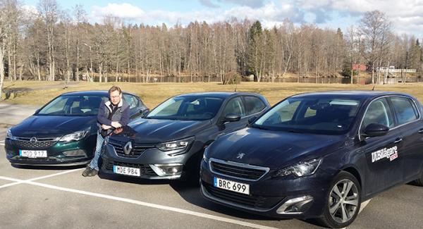 Peugeot 308, Renault Megane eller Opel Astra - vilken bil är bästa valet? Vårt test ger besked!