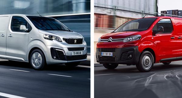Peugeot Expert och Citroën Jumpy.