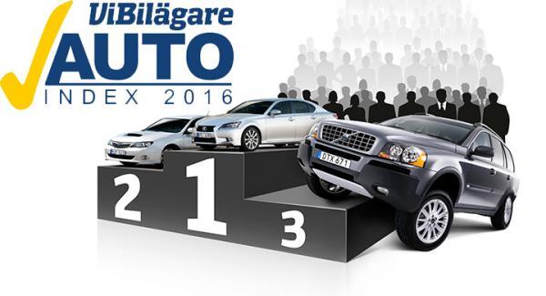 Lexus tar sin femte raka seger i Autoindex. Subaru hamnar på andra plats och Volvo kliver för första gången upp på prispallen.
