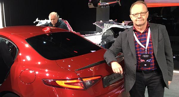Calle Carlquist har satt nya Alfa Romeo Giulia på prov på testbanan Balocco.