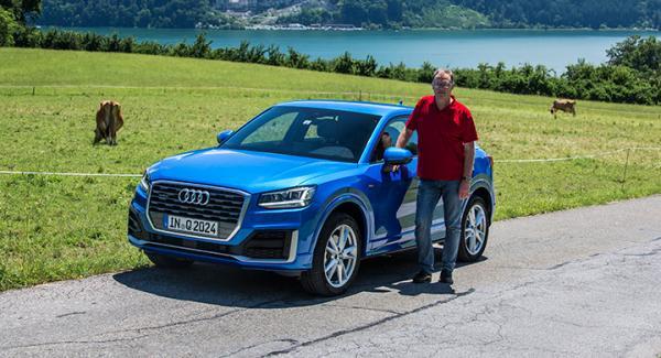 Audi Q2 provades i tät stadstrafik, på motorvägar i 120 km/tim och uppe på smala alpvägar på 1300 meters höjd.
