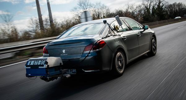 Peugeot 508 testas under kommande körcykeln RDE – Real Driving Emissions.