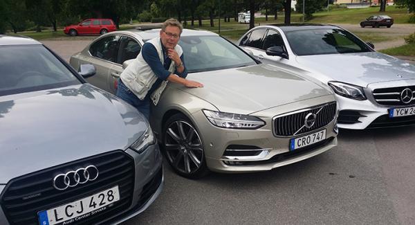 Nya S90 mot Mercedes E-klass och Audi A6. Har Volvon någon chans i den konkurrensen?