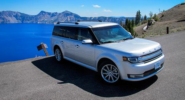 Ford Flex vid Crater Lake, Oregon.