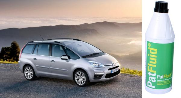 Frågeställaren har en Citroën C4 Grand Picasso och undrar om den använder sig av Eolys i avgasreningen.