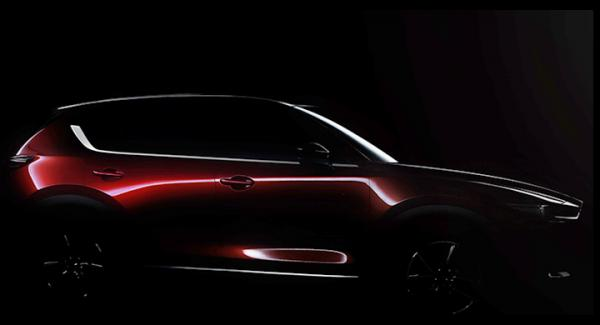 Dunkel bild av Mazda CX-5 2017.