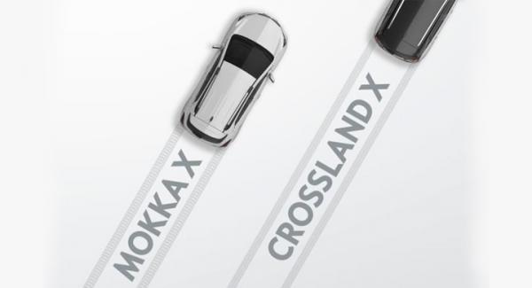 """Mycket mer än så här får vi inte se av Opels nya """"CUV"""" Crossland X."""