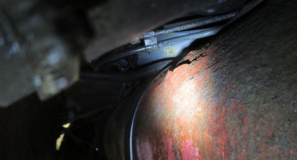 Den här rostskadade gastanken från en Opel Zafira hade kunnat orsaka katastrof.