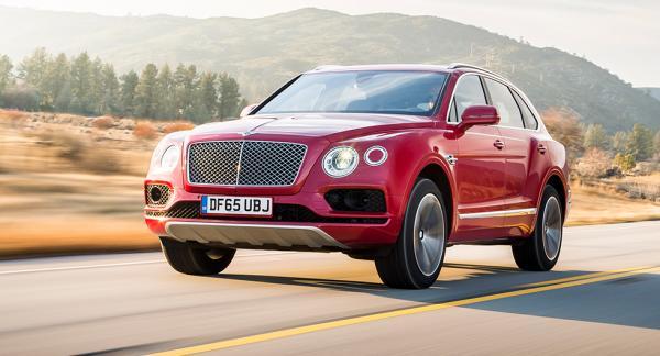 Suven Bentley Bentayga blir först ut att elektrifieras nästa år.