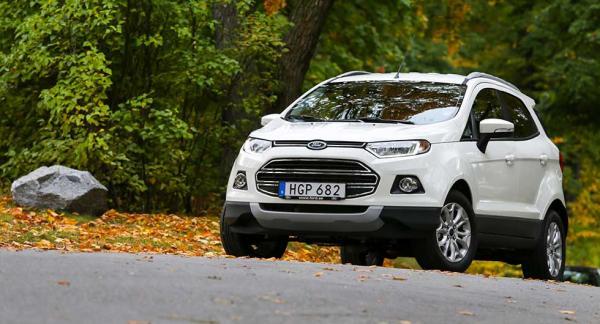 Ecosport börjar på 166.800 kr med 125 hk. Alla varianter är framhjulsdrivna.