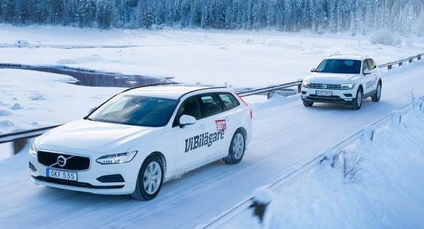 Det går bra för såväl Volvo V90 som Volkswagen Tiguan i nybilsregistreringarna. Båda modellerna ingår i Vi Bilägares långteststall 2017.