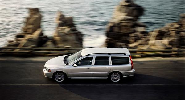 Vanligaste begbilen: Volvo V70.