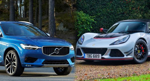 Styvsyskonen Volvo XC60 och Lotus Exige.