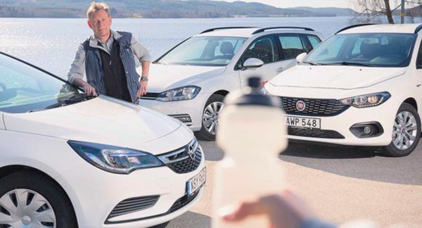 Testet av nya Fiat Tipo, VW Golf och Opel Astra handlade mycket om törst. Men inte på vatten, utan på bränsle…