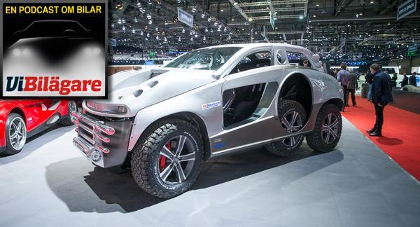 En av de mer udda skapelserna från märket Sbarro på årets bilsalong i Genève.