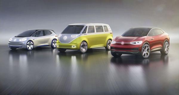 I.D, Buzz och Crozz, tre kommande elbilar från Volkswagen.