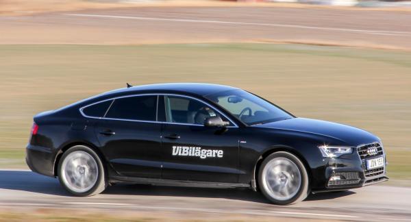 Audi A5, här i Sportback-utförande, är egentligen en A4 med elegantare karosslinjer och hårdare chassisättning.