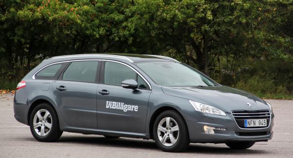 Peugeot 508, här i kombiutförandet SW, är en rymlig familjebil till bra begpriser.