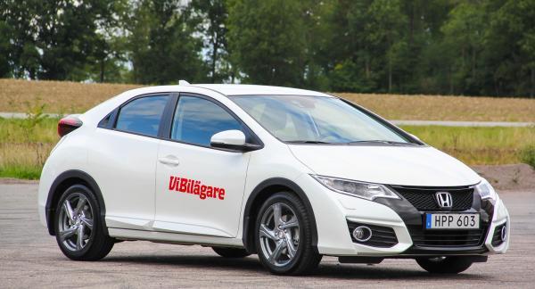 Förra generationen av Honda Civic, 2012–2016, är en körglad kompaktbil med bra kvalitet.