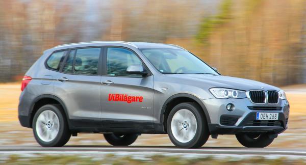 BMW X3 är en bekväm långresevagn med fyrhjulsdrift och fina vägegenskaper.