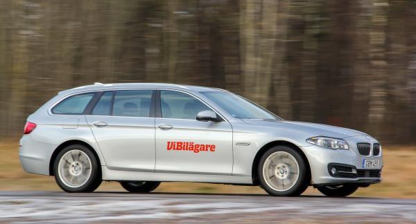 Senaste generationen av BMW 5-serien, här i Touringutförande, är en populär men dyr bil.