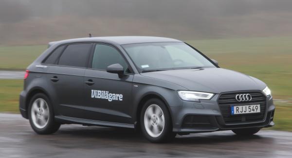 Audi A3 är en av Golfklassens bästa bilar körmässigt, men den är också relativt dyr.