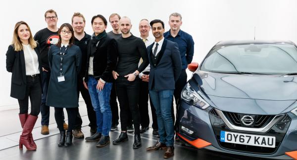 Hela designerteamet hos Nissan