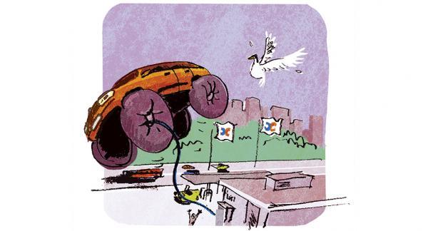 Frågeställaren undrar hur högt däcktryck man kan köra med för att minska slitage. Illustration: Johan Isaksson.